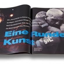 """Homepage Martina Dase: BUNTE Artikel """"Eine Runde Kunst"""" von Wolf Wondratschek über DOCUMENTA BOXING 1992. Foto: Stefan Carstensen."""