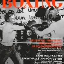 MD Coming Home: 1992, Documenta Boxing - Plakat Oliver Freigang; Fotograf: Stefan Carstensen