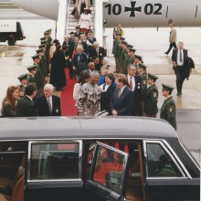 MD Coming Home: 1996, SFB Sondersendung - Mythos Mandela, Ankunft Berlin-Tegel
