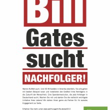 MD Coming Home: 2010, WHH Anzeige Bill Gates