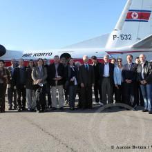 MD Coming Home: 2010, WHH Projektreise Nordkorea - Flug mit diplomatischem Corps nach Hamhung; Fotografin: Aurore Belkin