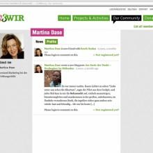 MD Coming Home: 2011, WHH Online Community Projekt - 123wir.org Screenshot 2