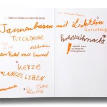 MD Coming Home: 2012, Weihnachtskarte Stiftung Mensch - innen; Fotograf: Stefan Carstensen