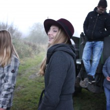 2015_Mias Traum_Dreharbeiten_Gangszene mit Trecker