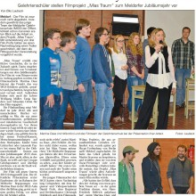Bericht der Dithmarscher Landeszeitung vom 14.12.2015