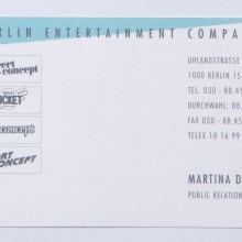 Visitenkarte MD concert concept